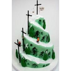 """Новогодний торт 2018 """"Елочки на горе"""""""