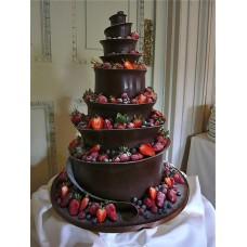 """Торт """"Шоколадная волна с клубникой"""""""