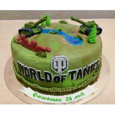 "Торт ""Поле сражения. World of tanks"""