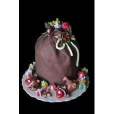 """Новогодний торт """"Мешок подарков"""""""
