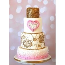 """Торт на День Святого Валентина """"Большое чувство и сердце"""""""