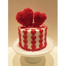 """Торт на 14 февраля """"Наши сердца рядом"""""""