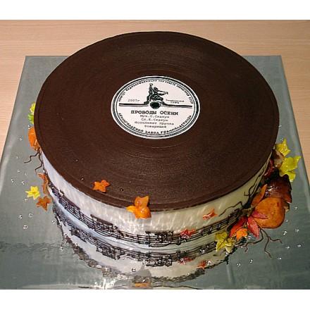 """Торт для музыканта """"Старая пластинка"""""""