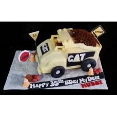 """Торт для дорожника """"CAT незаменимая техника"""""""