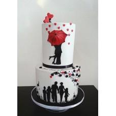 """Торт на день влюбленных """"Счастливая семья"""""""
