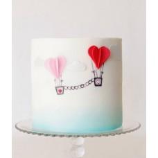 """Торт на 14 февраля """"Воздушные сердца"""""""