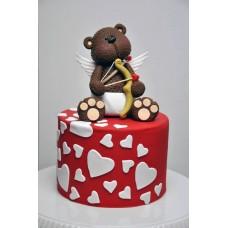 """Торт на день влюбленных """"Медведь лямур"""""""