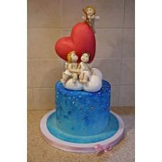 """Торт на день влюбленных """"Лямурчики на работе"""""""