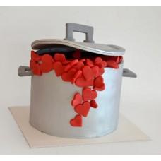 "Торт на 14 февраля ""Кастрюля сердец"""