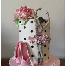 """Торт для балерины """"Балерина и пуанты"""""""