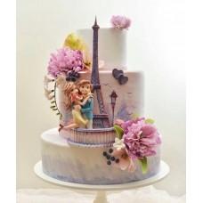 """Торт на день влюбленных """"Поездка в Париж с любимой"""""""