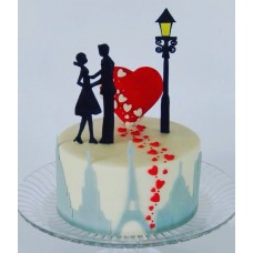 """Торт на день влюбленных """"Признание в большой любви"""""""