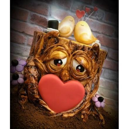 """Торт """"Влюбленная сова"""""""