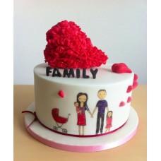 """Торт на День Святого Валентина """"Любовь в семье"""""""