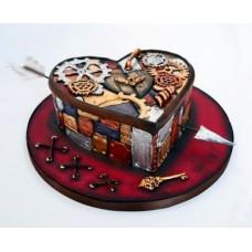 """Торт на день влюбленных """"Сердце стим панк"""""""