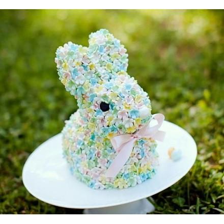 """Торт """"Цветочный кролик"""""""