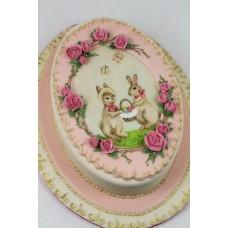 "Торт на Пасху ""Кролики с корзинкой"""
