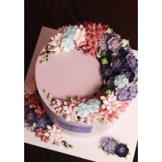 """Торт с цветами из крема """"Сиреневая прелесть"""""""