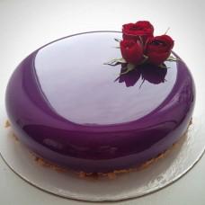 """Торт с глянцевым покрытием """"Красная роза на глянце"""""""