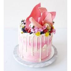 """Торт """"Сладкие цветы и ягоды"""""""