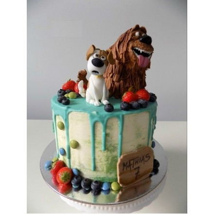"""Торт """"Тайная жизнь домашних животных. Собачки и ягоды"""""""""""