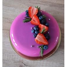 """Торт с зеркальной глазурью """"Сочные ягоды с розмарином"""""""