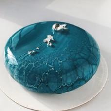 """Торт с мраморной глазурью """"Океанский бриз"""""""