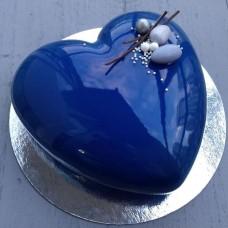 """Торт с зеркальной глазурью """"Сочное синее сердце"""""""