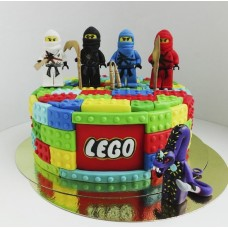 """Детский торт """"Lego. Ниндзи с оружием"""""""