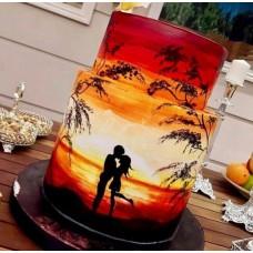 """Свадебный торт """"Закат любви"""""""