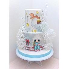 """Новогодний торт 2018 """"Чудный день"""""""