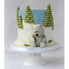 "Новогодний торт ""Мишка и снеговик"""