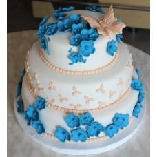 "Торт ""Бабочка в цветочках"""