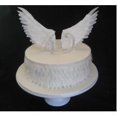 """Торт """"Крылья ангела: 40 лет"""""""