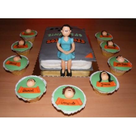 """Торт на День студента """"Преподаватель и студенты"""""""
