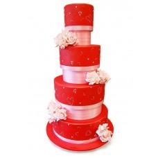 """Свадебный торт """"Красный"""""""